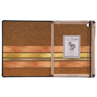 Masculine Cigar Band Stripes iPad Folio Case