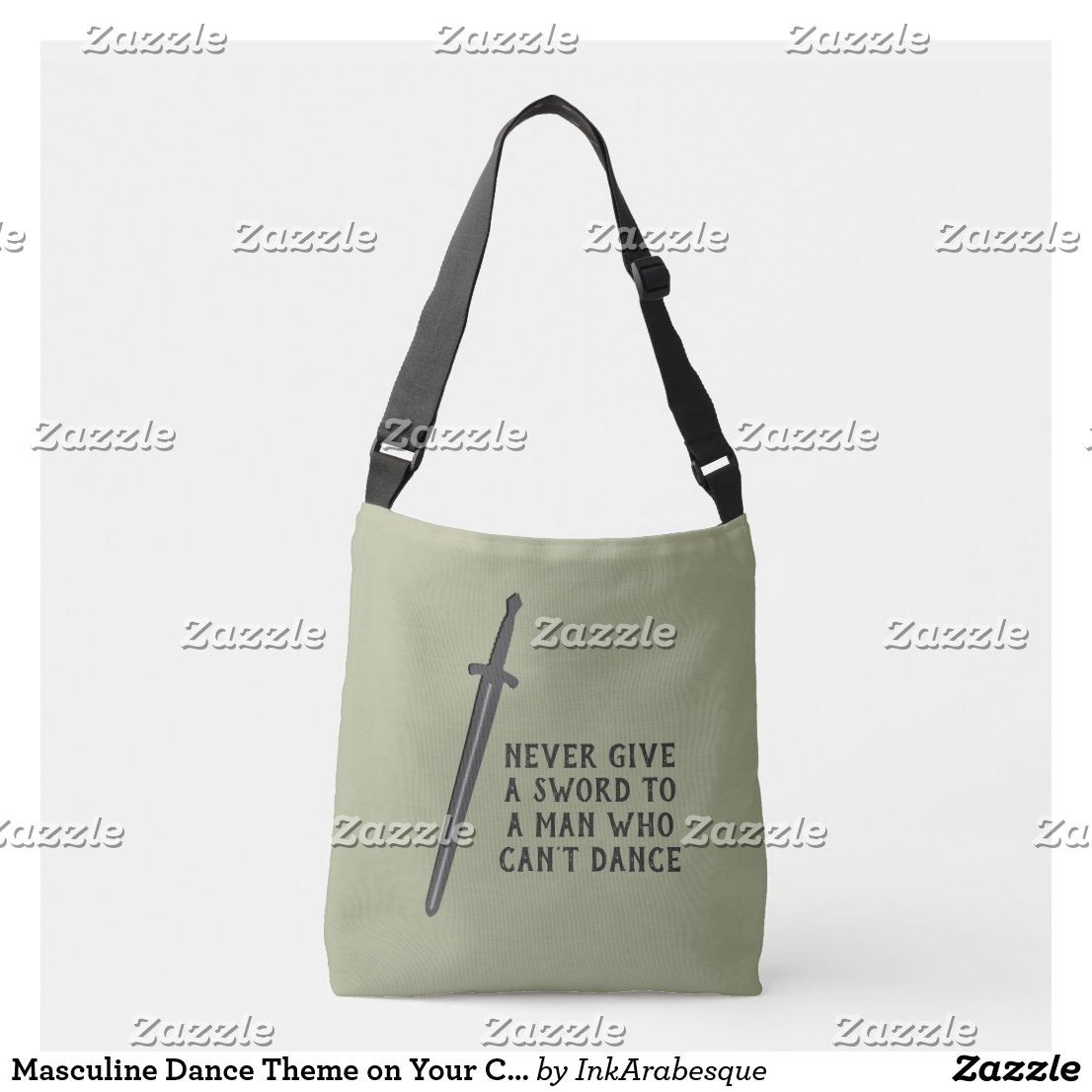 Masculine Dance Theme on Your Choice of Color Crossbody Bag