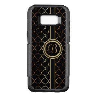 Masculine Executive Design    Monogram OtterBox Commuter Samsung Galaxy S8+ Case