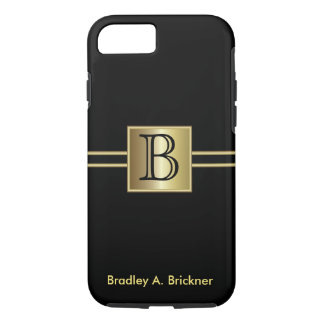 Masculine Executive Style | DIY Monogram iPhone 7 Case