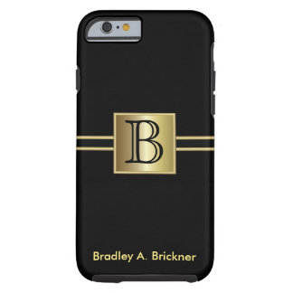 Masculine Executive Style | DIY Monogram Tough iPhone 6 Case
