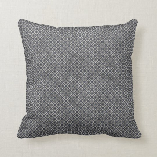 Masculine Geometric Squares Pattern Blue And Beige Throw