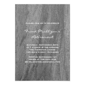 Masculine Granite Retirement Party Invitation