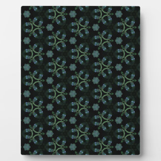 Masculine Green Teal Funky Pattern Plaque