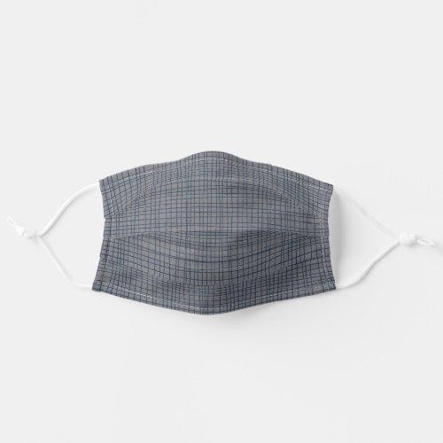 Masculine Grey Geometric Stylish Pattern Cloth Face Mask