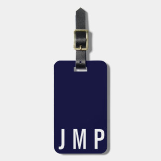 Masculine Initial Simple Personalized Custom TAG
