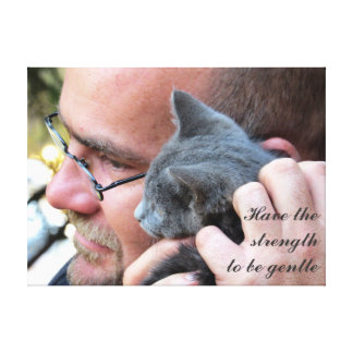Masculine Kitten Love Canvas Print