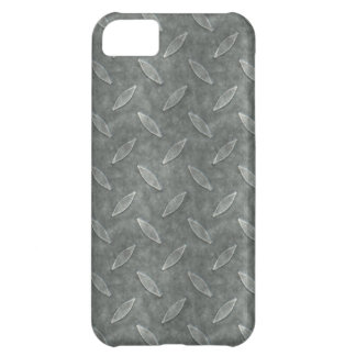 Masculine Manly Grungy Metal Diamond Plated Art iPhone 5C Cover