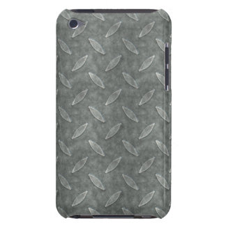 Masculine Manly Grungy Metal Diamond Plated Art iPod Case-Mate Cases