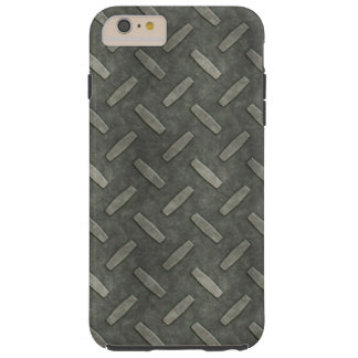 Masculine Manly Grungy Metal Diamond Plated Art Tough iPhone 6 Plus Case