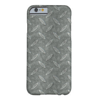 Masculine Manly Grungy Metal Diamond Plated Art Barely There iPhone 6 Case