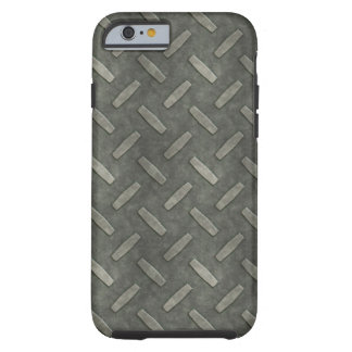 Masculine Manly Grungy Metal Diamond Plated Art Tough iPhone 6 Case