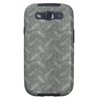 Masculine Manly Grungy Metal Diamond Plated Art Samsung Galaxy S3 Case