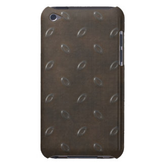 Masculine Manly Grungy Metal Diamond Plated Art iPod Case-Mate Case