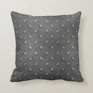 Masculine Manly Grungy Metal Diamond Plated Art Pillow