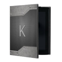 Masculine Metal Look iPad Folio Case