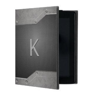 Masculine Metal Look iPad Folio Case