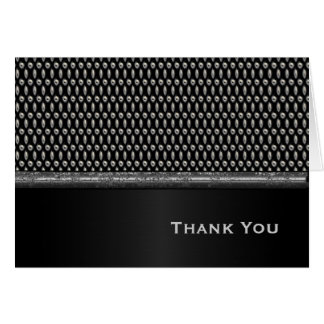 Masculine Metal Look Thank You Note Card
