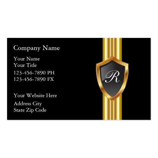 Masculine Monogram Business Cards
