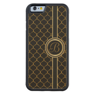 Masculine Monogram Executive Cover Carved® Maple iPhone 6 Bumper Case
