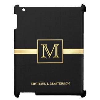 Masculine Monogram Executive Gold iPad Mini Case