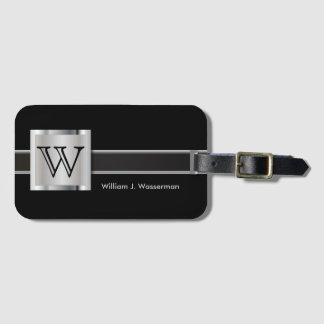 Masculine Monogram Executive Style Bag Tag