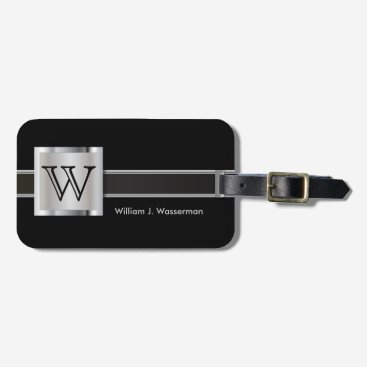 DesignsbyDonnaSiggy Masculine Monogram Executive Style Bag Tag