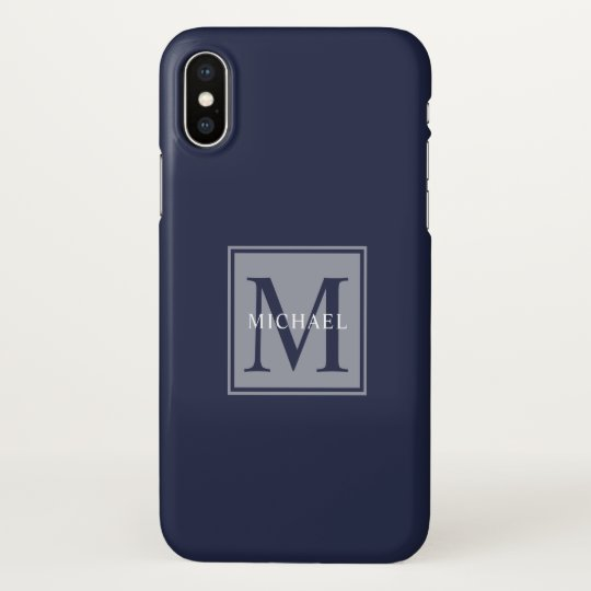 Masculine Monogram Minimalist Block Lettering IPhone X Case