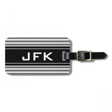 backgroundpatterns Masculine monogram travel luggage tag with stripes