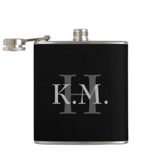 Masculine Monogrammed Flask