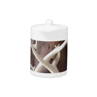 Masculine Outdoorsy Intertwined Antlers Teapot