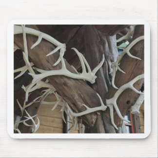 Masculine Photo Antlers Wrapped poles Mouse Pad
