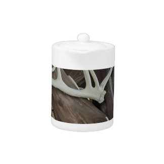 Masculine Photo Antlers Wrapped poles Teapot