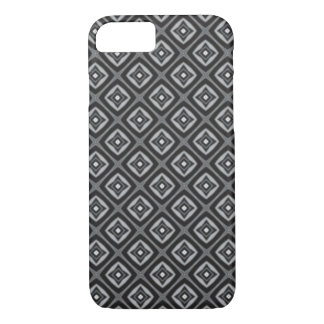 Masculine Shades of Grey Squares iPhone 7 Case