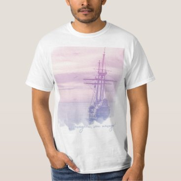Beach Themed Masculine shirt - I will sail, I go to sail