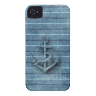 Masculine Vintage nautical classy anchor Case-Mate iPhone 4 Case