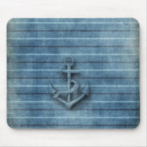 Masculine Vintage nautical classy anchor Mouse Pad