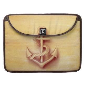 Masculine Vintage nautical classy anchor Sleeves For MacBooks