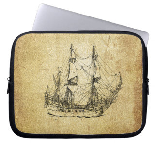 Masculine Vintage nautical classy ancient ship Computer Sleeve