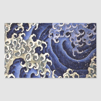 Masculine Wave by Katsushika Hokusai Rectangular Sticker