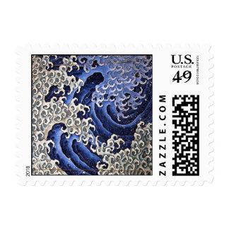 Masculine Wave, Hokusai Stamp