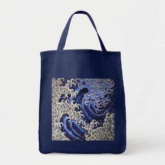 Masculine Wave, Hokusai Tote Bag