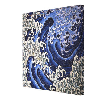 Masculine Wave. Katsushika Hokusai Stretched Canvas Print