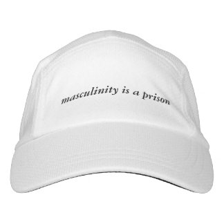 'masculinity is a prison' baseball hat