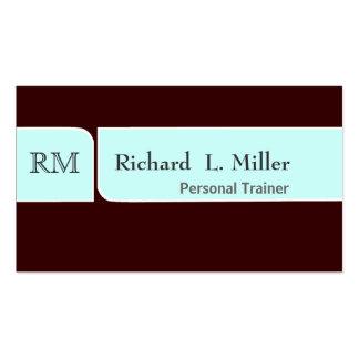 Masculino llano simple del diseño moderno tarjeta de negocio