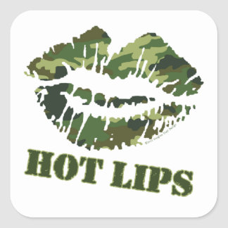 MASH Hot Lips Square Sticker