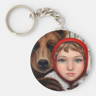 Masha and the Bear Keychain