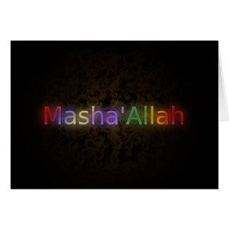MashaAllah - frase islámica - recuerdos que saluda Tarjetas