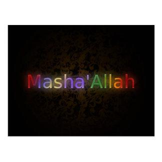 MashaAllah - frase islámica - recuerdos que Tarjeta Postal