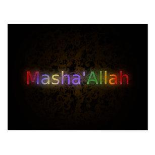 Islam greeting postcards zazzle mashaallah islamic phrase best wishes greeting postcard m4hsunfo